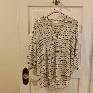 Lush Nordstrom printed oversized blouse